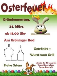 Salbker Osterfeuer am 24.4.2016